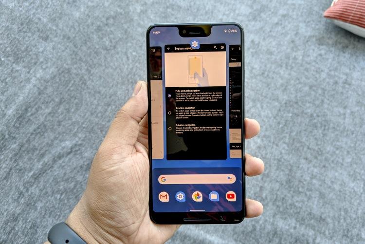 Android Q навигационные жесты