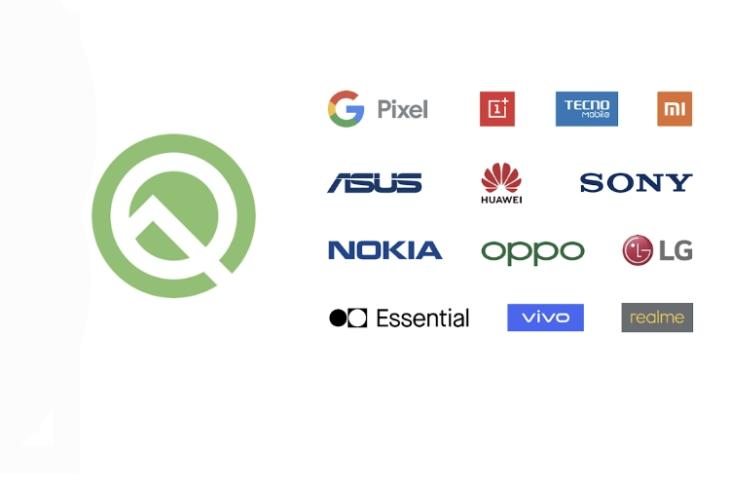 Android Q OEM partners