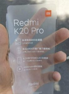 Upcoming Redmi Flagship Specs Leaked; May be Called the Redmi K20 Pro