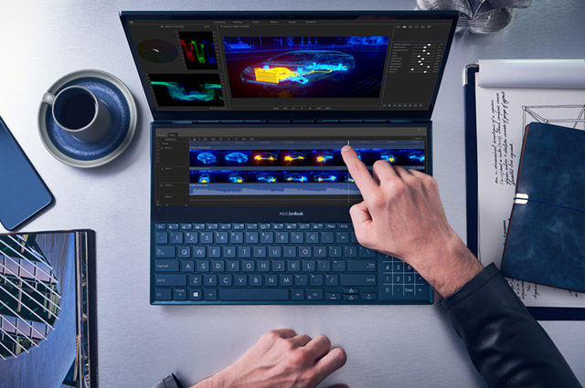 zenbook pro duo screenpad plus image