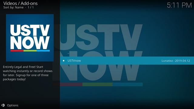 1. USTVNow