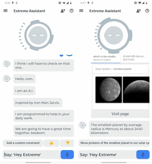 7. Extreme - Personal Voice Assistant