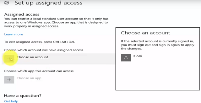 Assigned Access