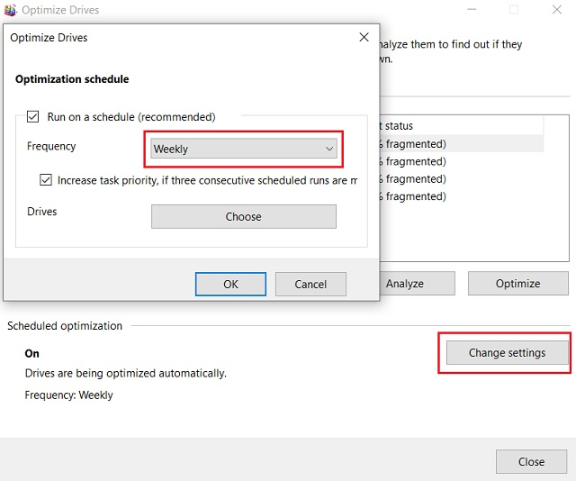 Defragment Windows 10 with the Inbuilt Tool 2