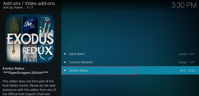 Get Exodus on Kodi 4