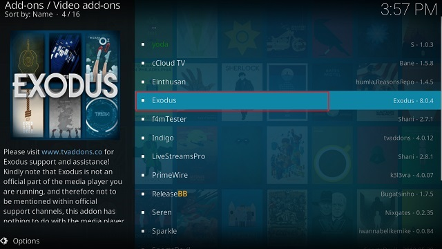 Get Exodus on Kodi 8