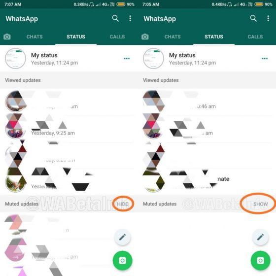 статус отключения WhatsApp
