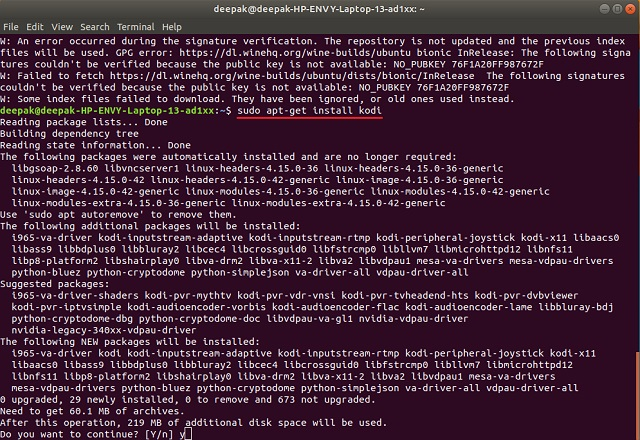 So installieren Sie Kodi unter Linux