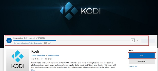 Install Kodi From the Microsoft Store
