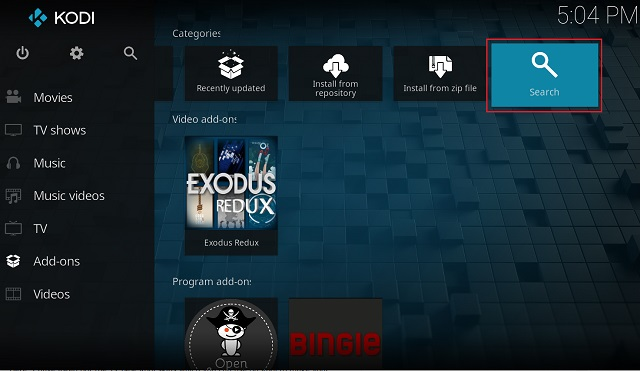 Install Kodi Skin from the Official Repository
