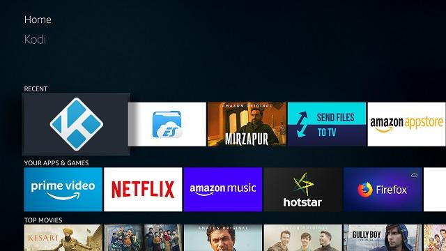 Installieren Sie Kodi auf dem Amazon Fire TV Stick