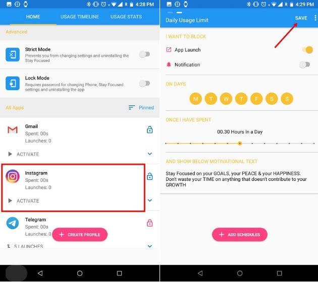 الحد من استخدام Instagram مع تطبيقات الجهات الخارجية على Android (لنظام Android Oreo و Lower) (1)