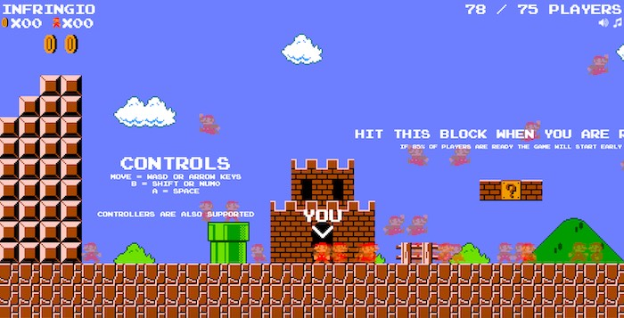 Super Mario with Battle Royale is a Lot of Fun!