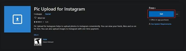 تحميل الصورة ل Instagram