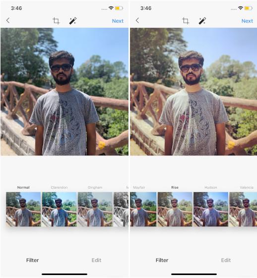Rise Instagram filter