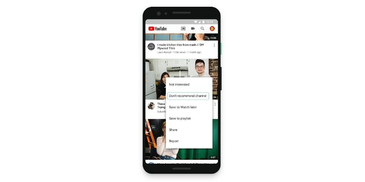 YouTube Hands Over Control of Tweaking Video Recommendations to Users
