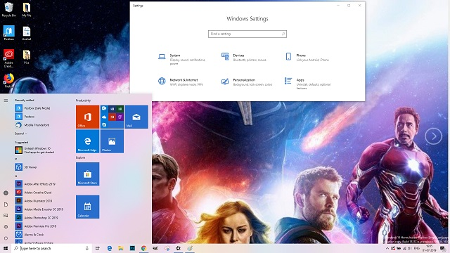 Windows 10 Avengers Endgame theme