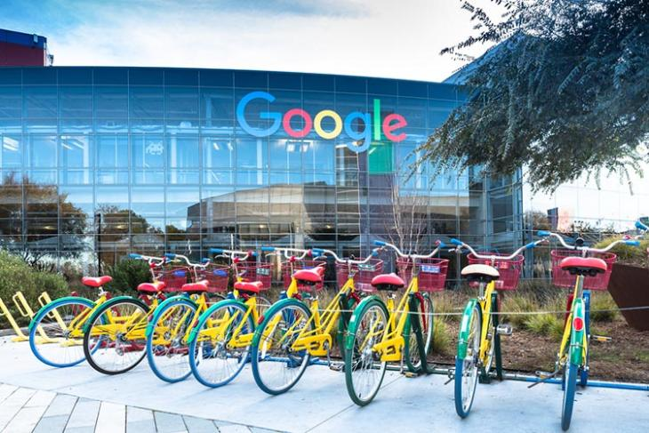 google building with cycles