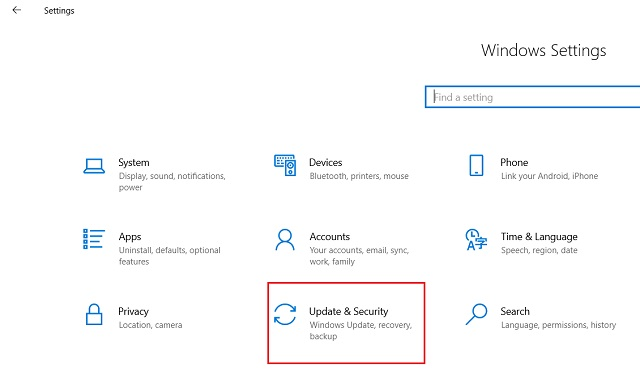 1. Downgrade Windows 10 from Settings