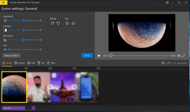 2. أدوات تحرير الفيديو الأساسية 1
