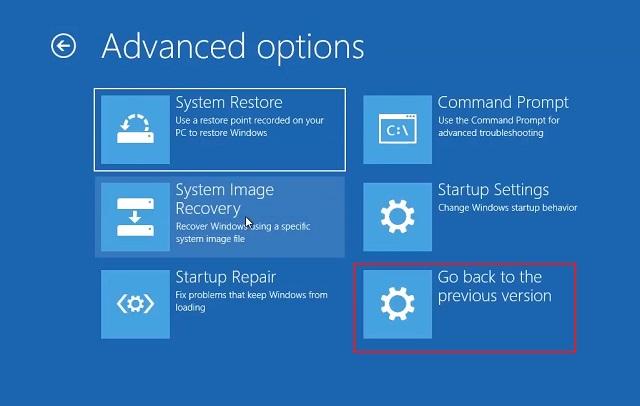 3. Downgrade Windows 10 to the Previous Build 4