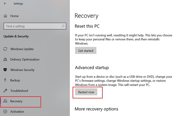 3. Downgrade Windows 10 to the Previous Build