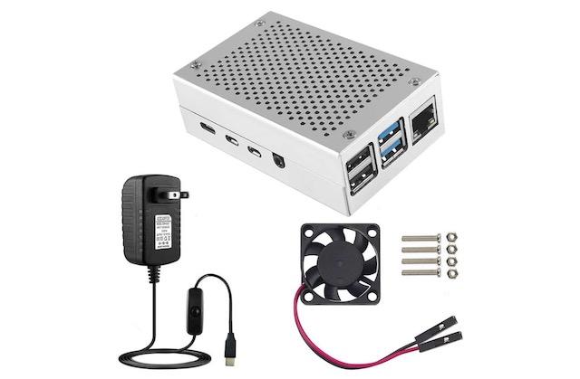 5. Ceetech Raspberry Pi 4 Case with Fan