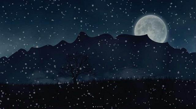 Animated snowfall