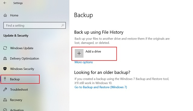 Back Up Important Files Using File History 2