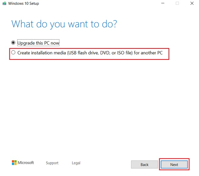 Create Windows 10 Bootable USB with Media Creation Tool 2