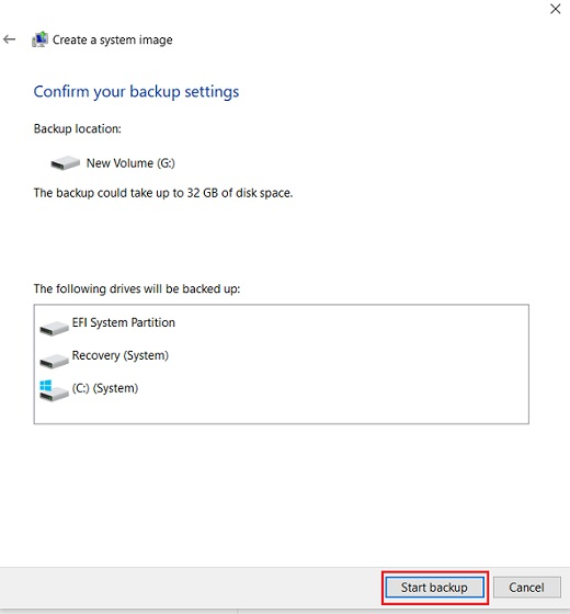 Create a Full Windows 10 Backup with Backup and Restore 5