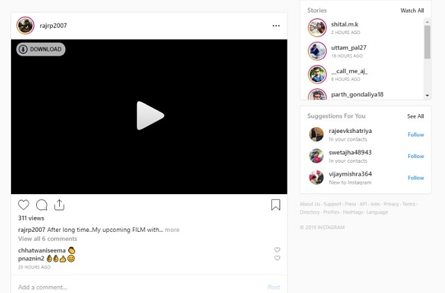 Download Instagram videos by using Chrome extension