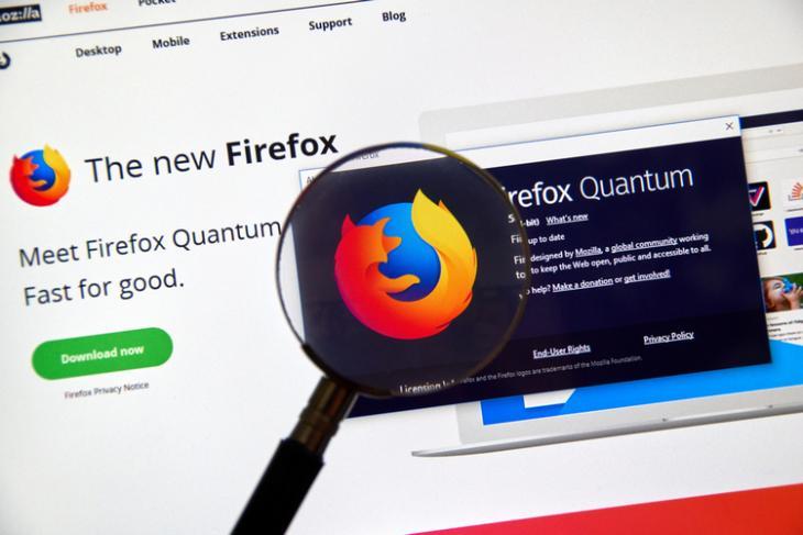 Firefox Quantum shutterstock website