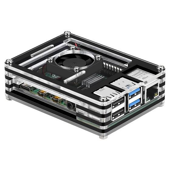 GeeekPi Acrylic Case for Raspberry Pi 4