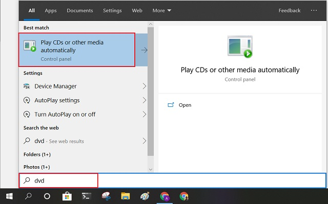 Manage DVD Auto-Play Settings