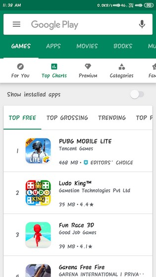 PUBG Mobile Lite Tops Google Play Rankings in India Within 3 Days of Release