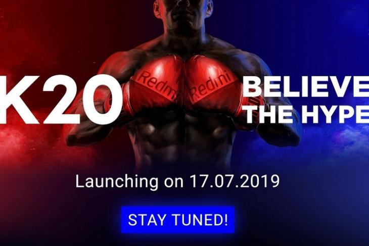 Redmi K20 FK teaser website
