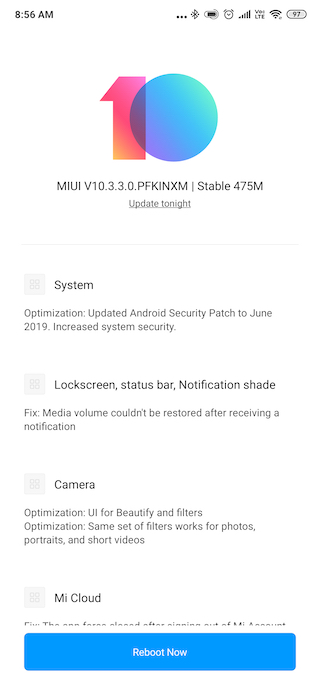 Redmi K20 Pro's First Update Brings Camera Optimizations and Latest Security Patch