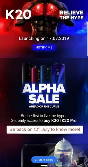 [Update: Alpha Sale Confirmed] Flipkart Teases Redmi K20 Launch; Rumors Hint at 'Alpha Sale' on July 12