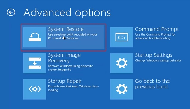Reset Windows 10 from Windows Advanced Recovery 4