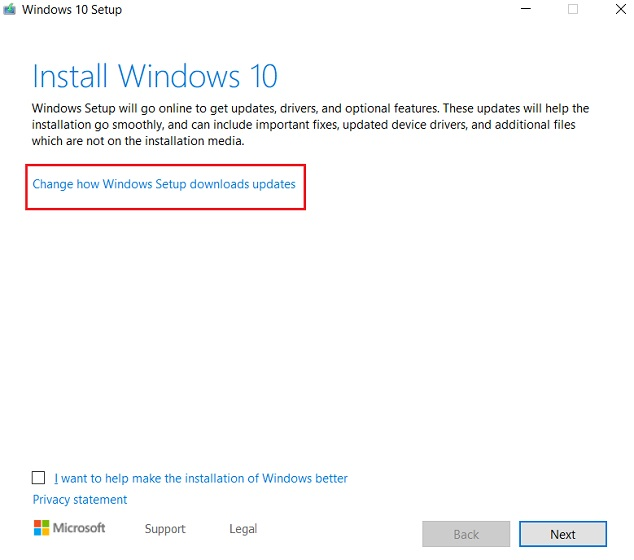 Reset Windows 10 with Windows Installer 3