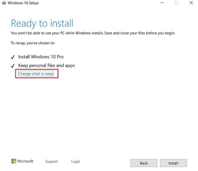 Reset Windows 10 with Windows Installer 5
