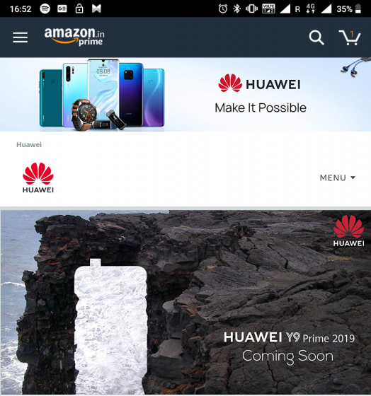 Huawei pop-up camera phone launch india