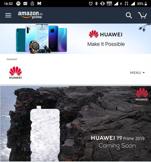 Huawei pop-up camera phone launch india