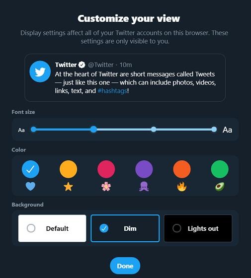 Twitter Web UI
