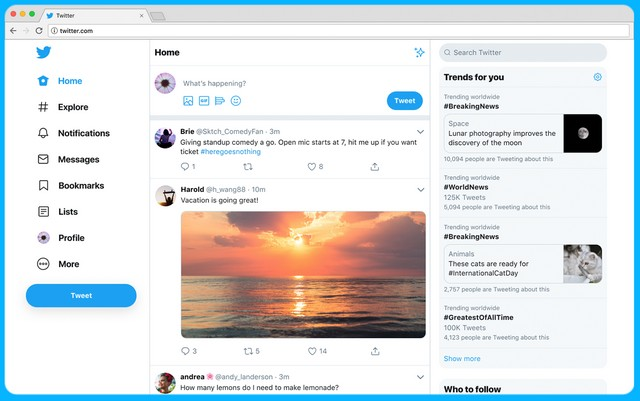 Redesigned Twitter With Dark Mode, Simpler Navigation Starts Rolling Out Globally