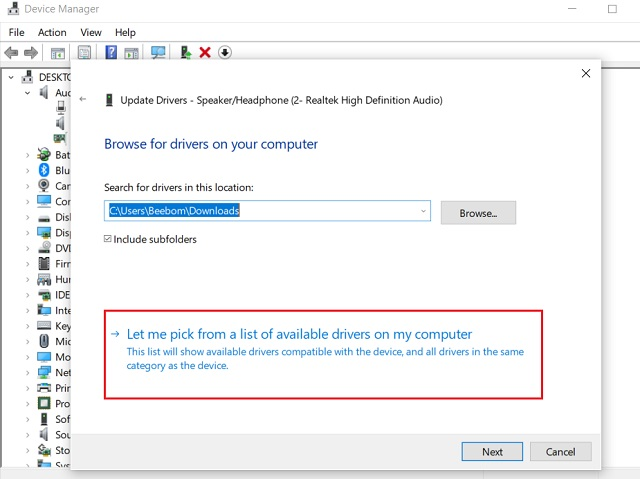 Update Realtek HD Audio Driver Manually 2