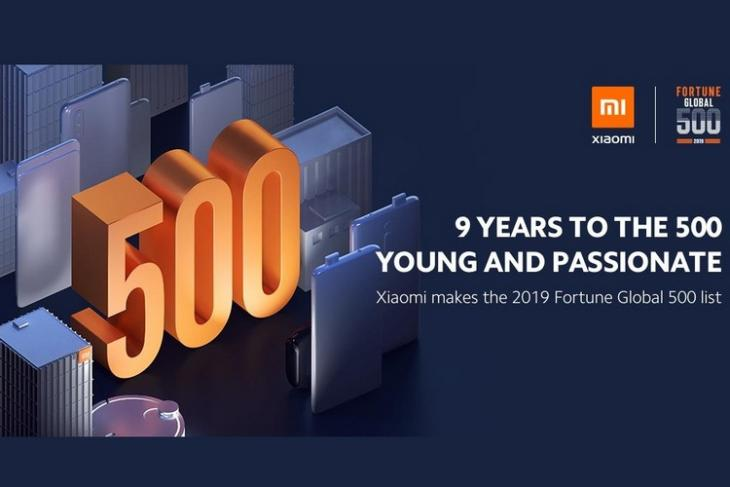 Xiaomi Fortune 500 Entry website