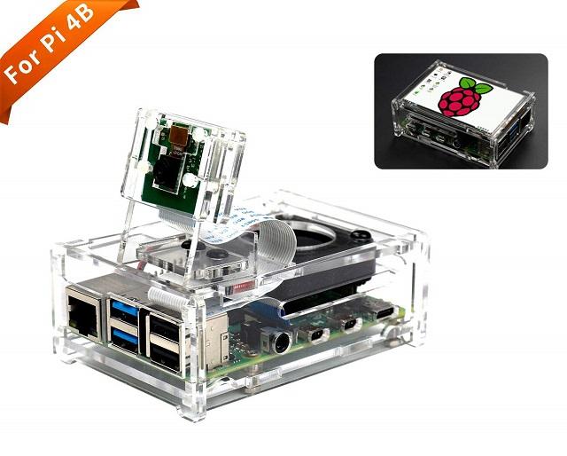 Yahboom Raspberry Pi 4B Acrylic Case
