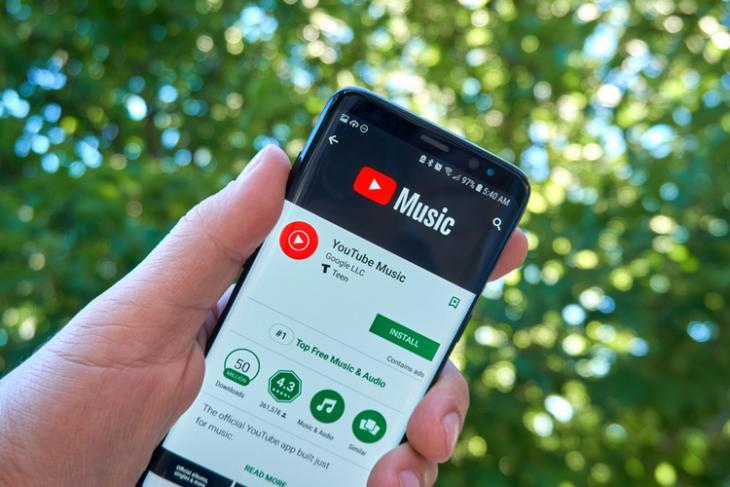 YouTube Music shutterstock website
